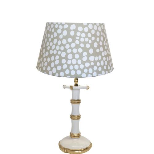 Dana Gibson - Bamboo Candle Stick Lamp in White