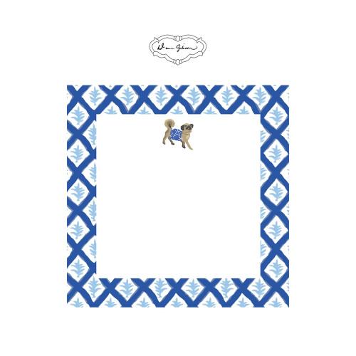 Dana Gibson - Casa Pug Notepad-Blue
