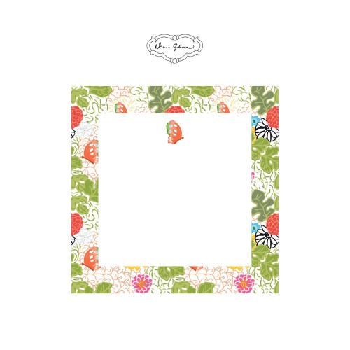 Dana Gibson - Kimono Butterfly Notepad-White