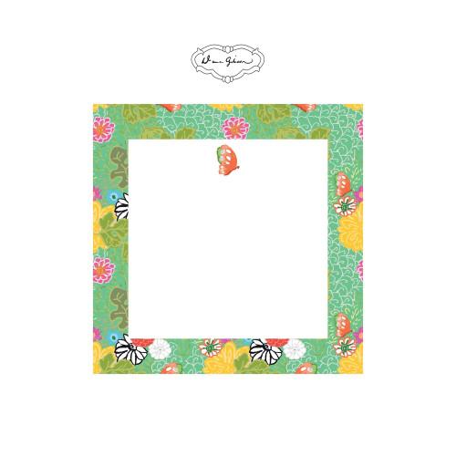 Dana Gibson - Kimono Butterfly Notepad-Turquoise