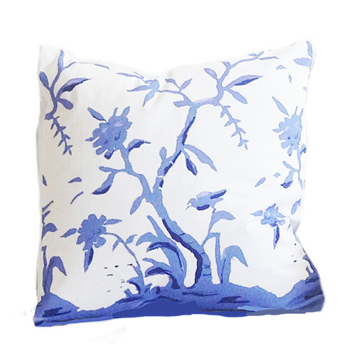 "Dana Gibson Cliveden In Blue 22"" Pillow"
