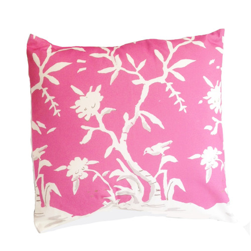 "Dana Gibson Cliveden In Pink 22"" Pillow"