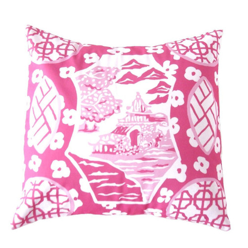 "Dana Gibson Canton In Pink 22"" Pillow"