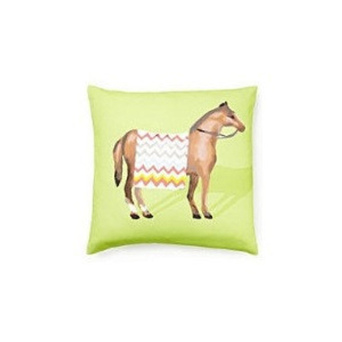 Dana Gibson Show Horse Pillow In Green
