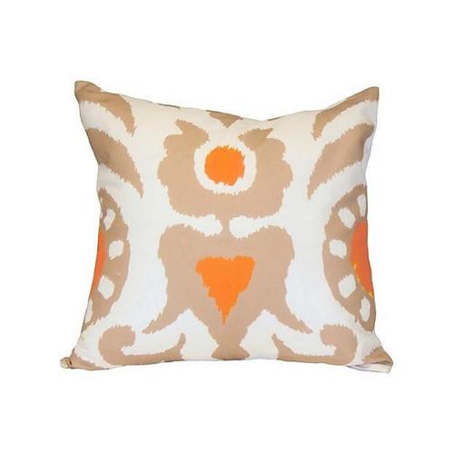 "Dana Gibson Taupe Agra 22"" Pillow"
