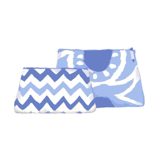 Dana Gibson Blue Bargello Travel Bag