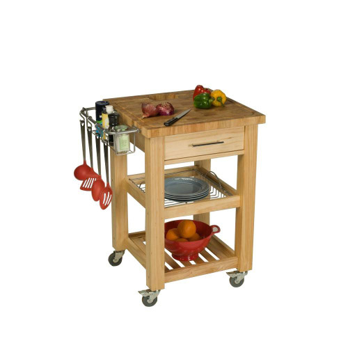 "Chris & Chris Pro Chef 23.63"" x 23.63"" x 35.75"" Food Prep Station Natural"