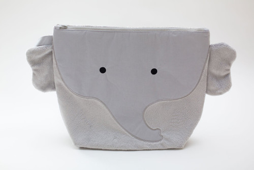 Nikiani Plush Pebbles Gray Elephant Wet Backpack