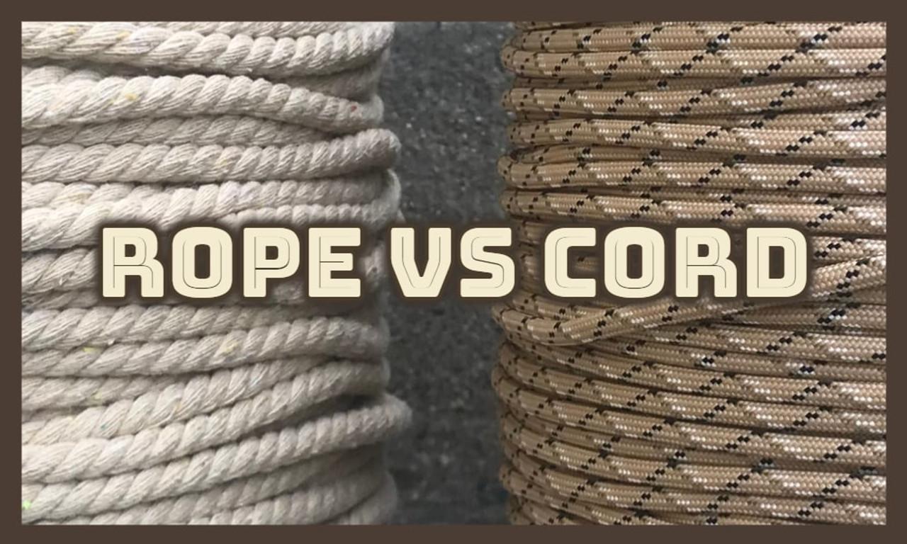 Rope vs Cord