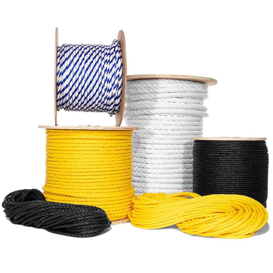 Three Strand Twisted Polypropylene Rope - Multiple Sizes