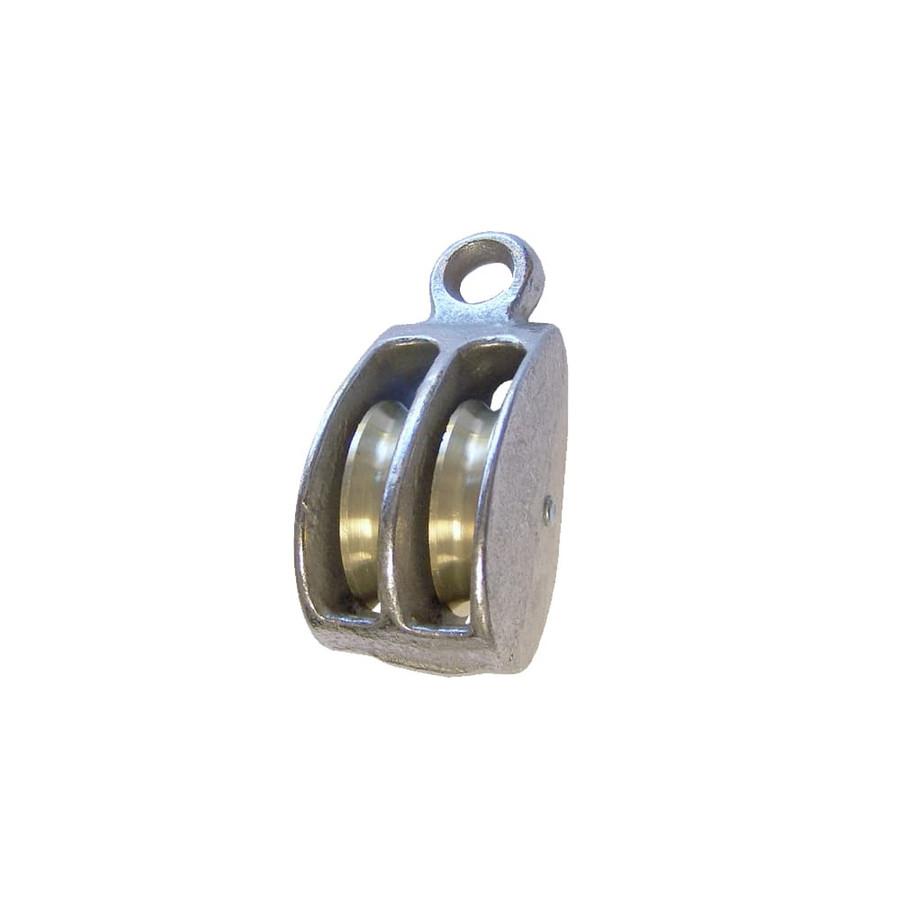 Rigid Eye Double Wheel Pulley - Single