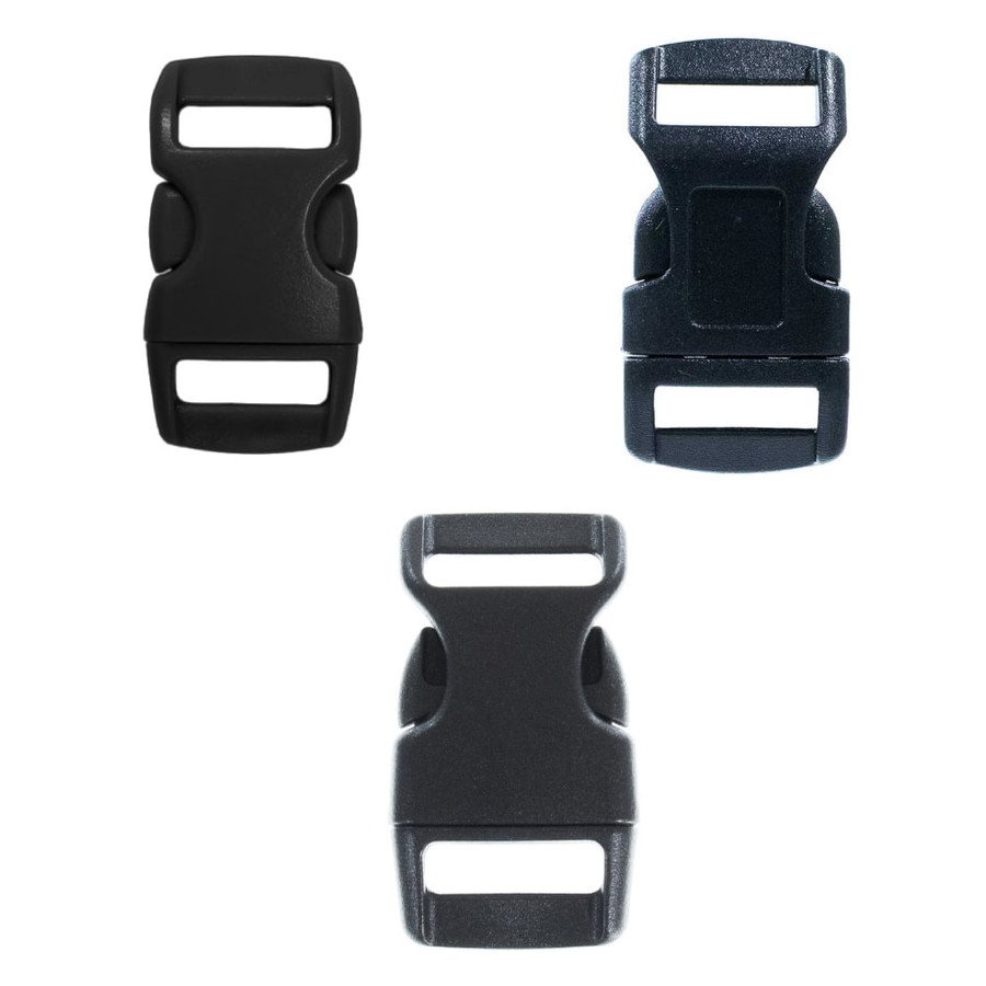 Side Release Countoured Buckles - multiple sizes