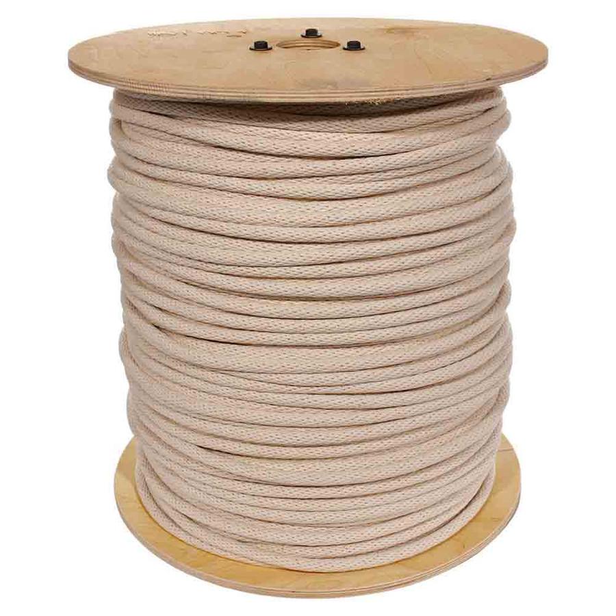 Solid Braid Cotton Sash Cord - Black & Natural