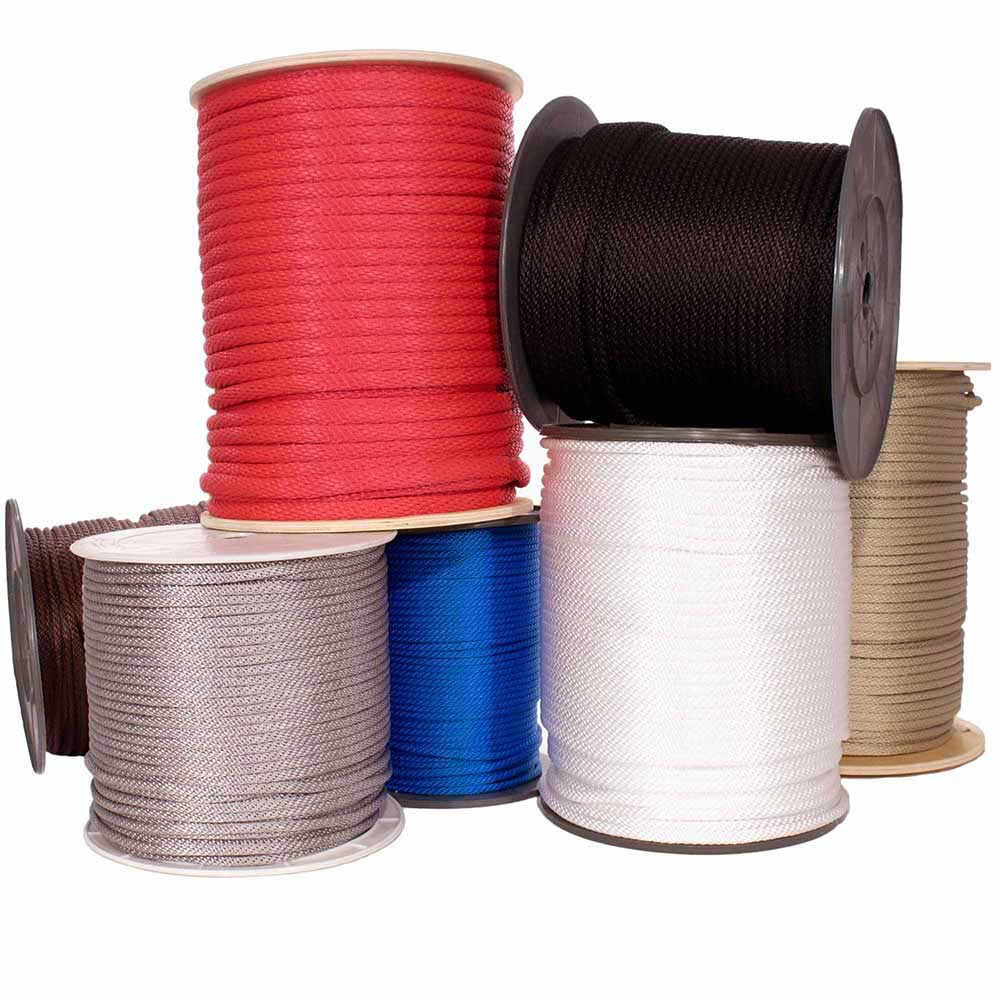 Solid Braid Multifilament Polypropylene Rope