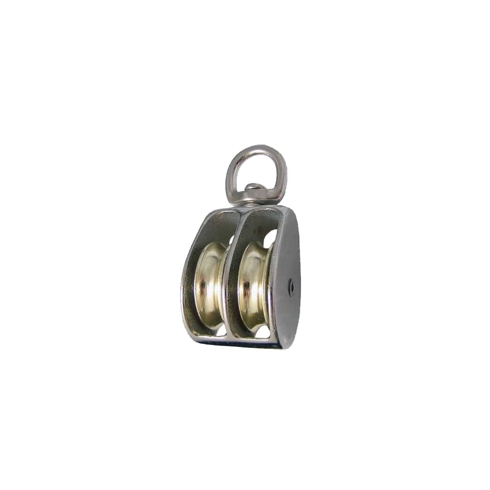Swivel Eye Double Wheel Pulley