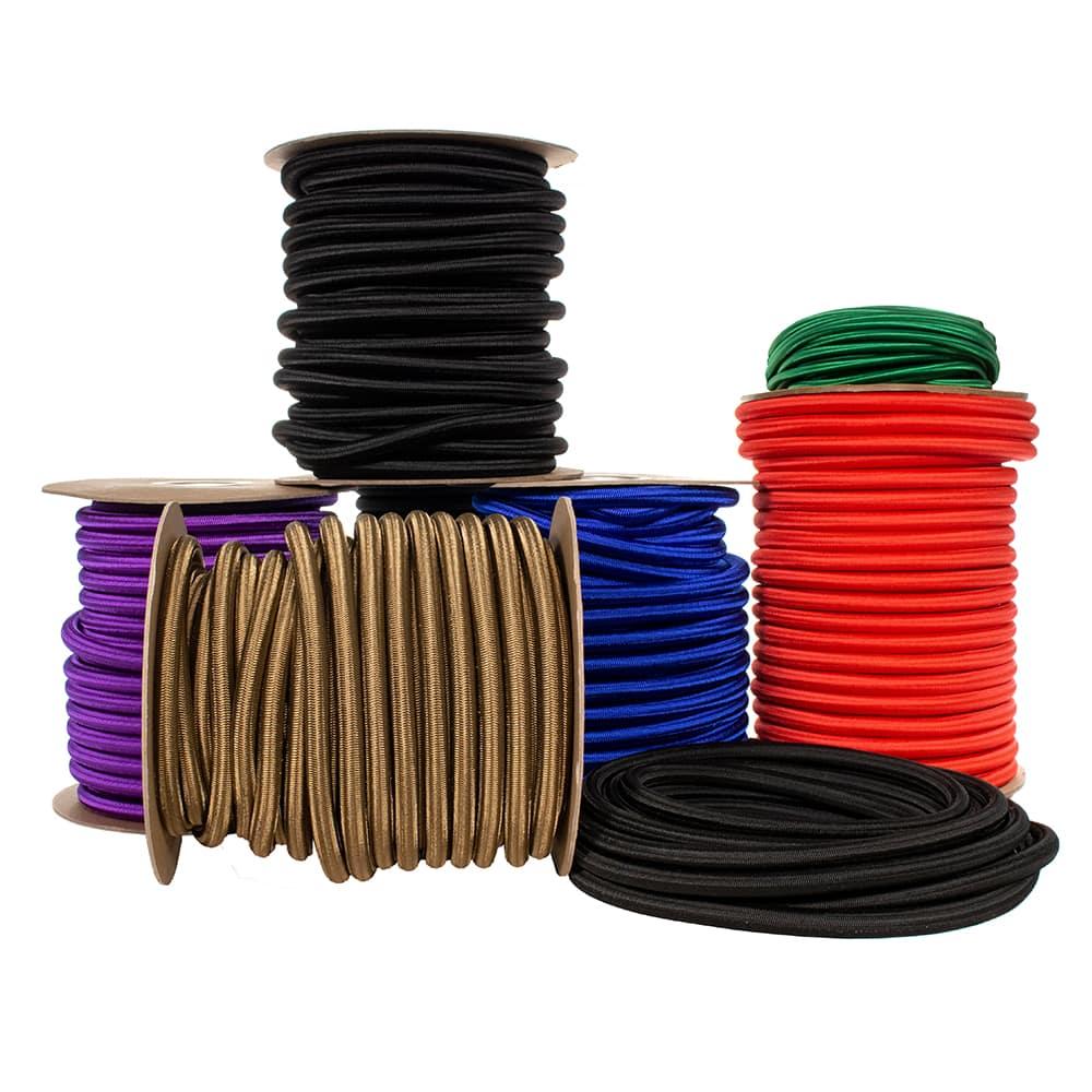 """1/2"""" Nylon Shock Cord - 90 Inner Rubber Strands"""