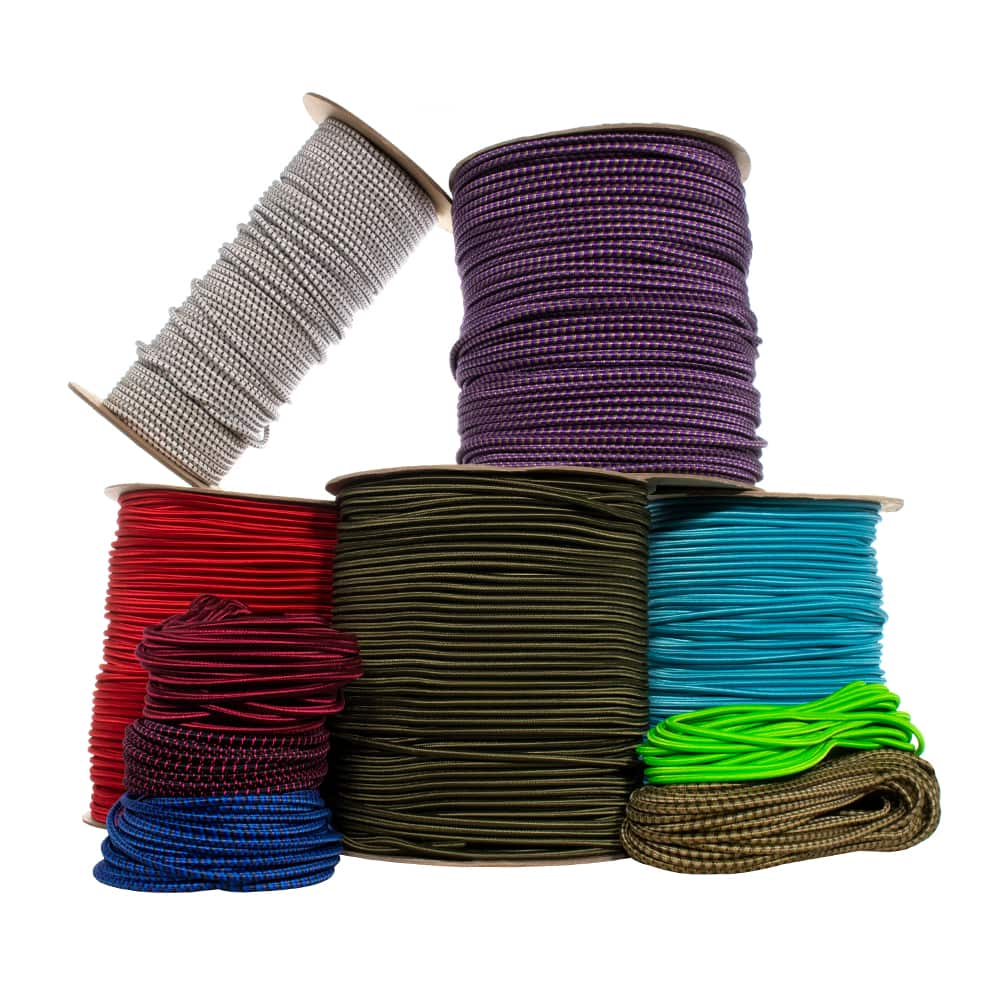 "3/16"" Nylon Shock Cord - 48 Inner Rubber Strands"