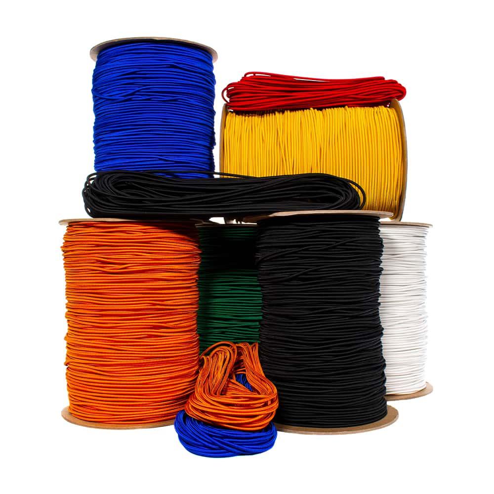 """1/16"""" Nylon Elastic Cord - 3 Inner Elastic Strands"""