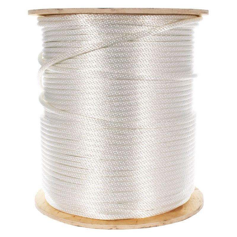 Solid Braid Nylon Rope with Galvanized Aircraft Cable Core