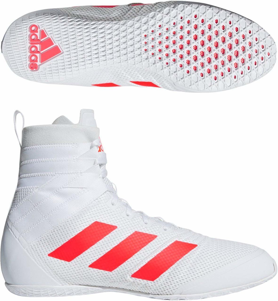 Adidas Speedex 18 White Boxing Boots