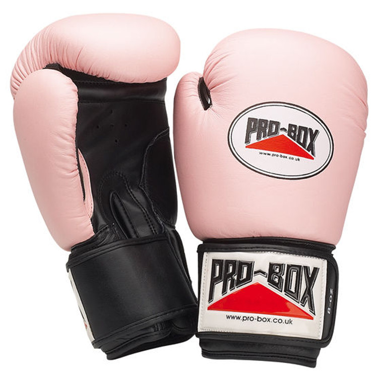 Pro Box Pink Leather Training Gloves