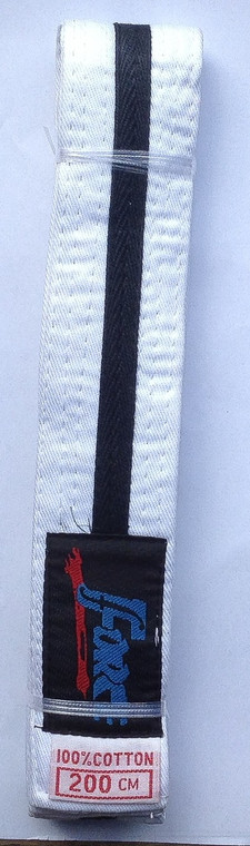 Force White Black Stripe 280cm Pack Of Ten Belts