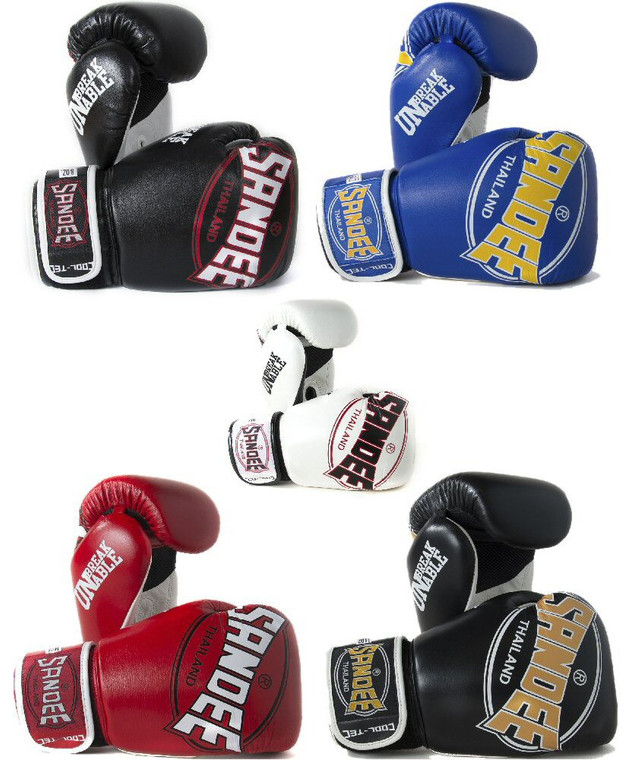 Sandee Cool Tec Velcro Leather Boxing Gloves