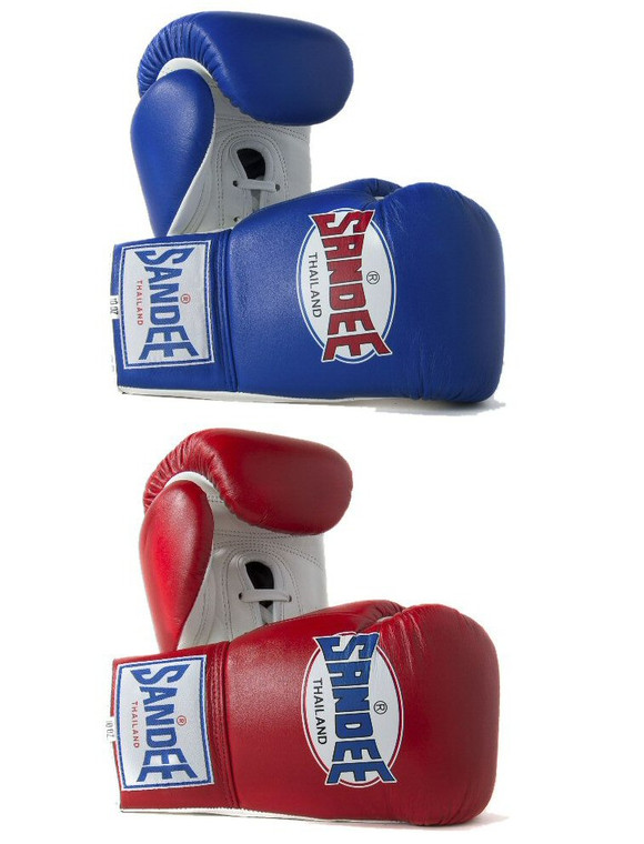 Sandee Leather Lace Up Boxing Gloves