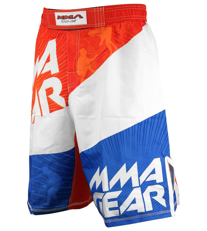 MMA Gear Evolve MMA Shorts - Orange & White