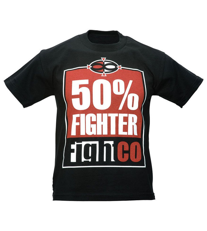 FightCo 50% Fighter Youth T-Shirt - Black