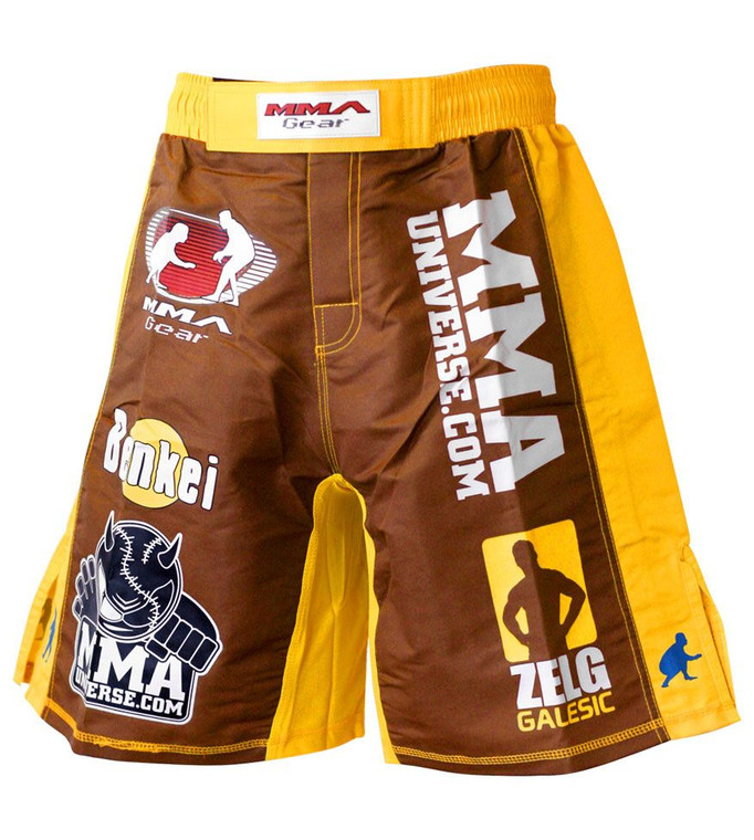 MMA Gear Zelg Galesic Flex Max MMA Shorts - Brown