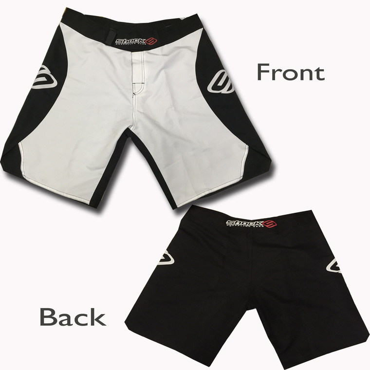 Shock Wave MMA Shorts White Black