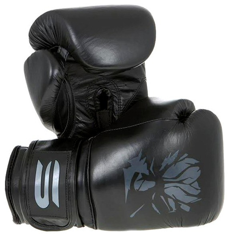 Spirit Pitch Black Leather Boxing Gloves