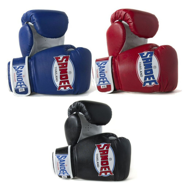 Sandee Authentic Velcro Synthetic Leather Boxing Glove