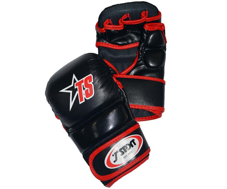 T Sport MMA Sparring Gloves Black Red