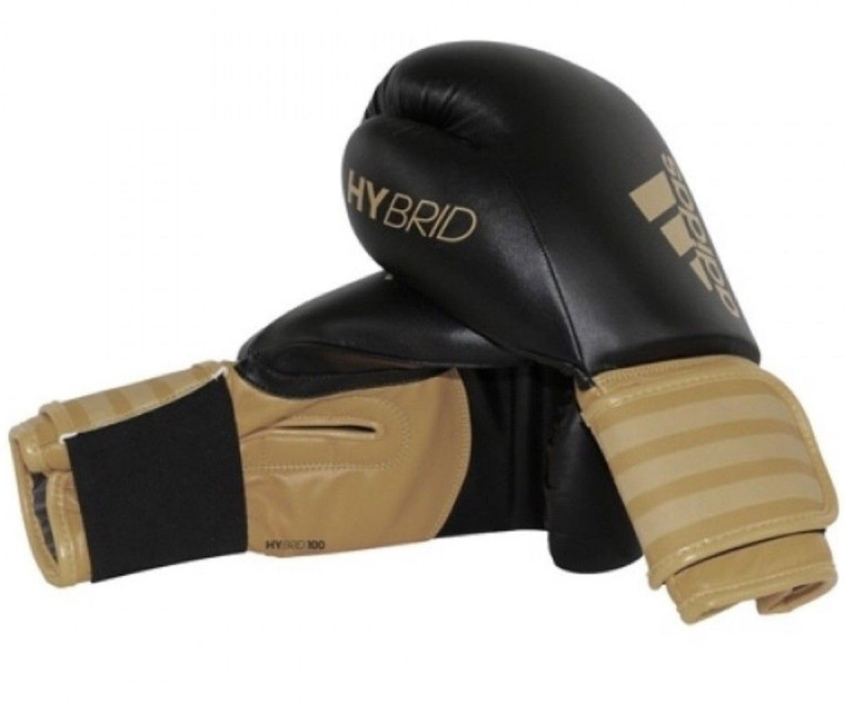 Adidas Hybrid 100 Gold Boxing Gloves