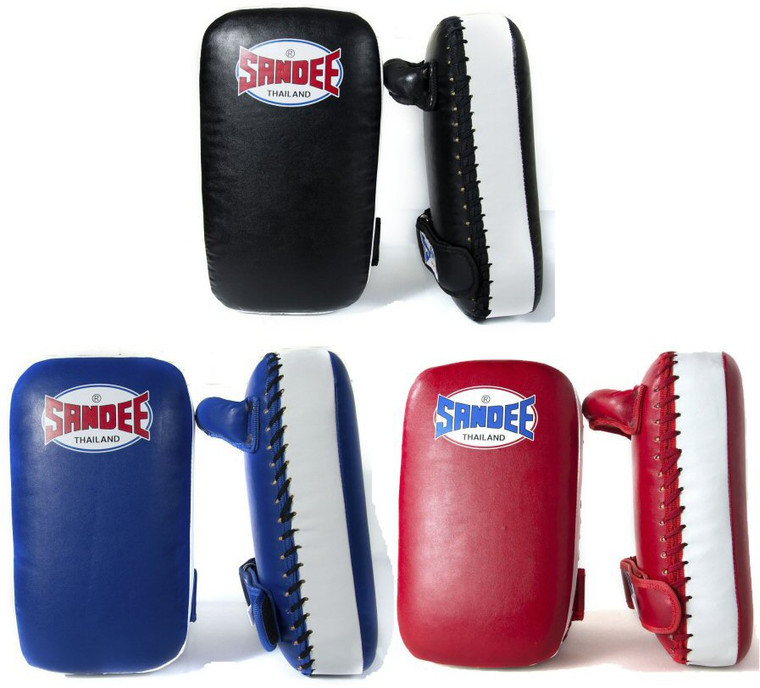 Sandee Small Extra Thick Synthetic Leather Flat Thai Kick Pads