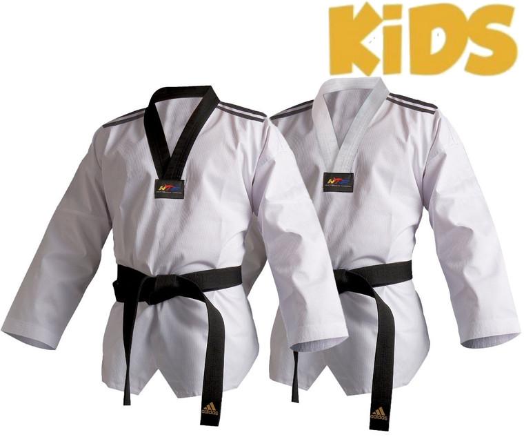 Adidas Kids WTF Club Dobok With Stripes