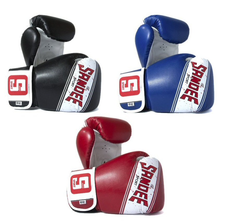 Sandee Sport Velcro Synthetic Leather Boxing Glove