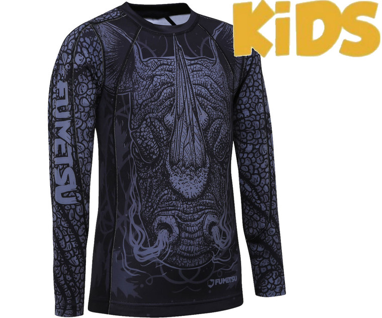 Fumetsu Kids Rampage Rash Guard Black Grey