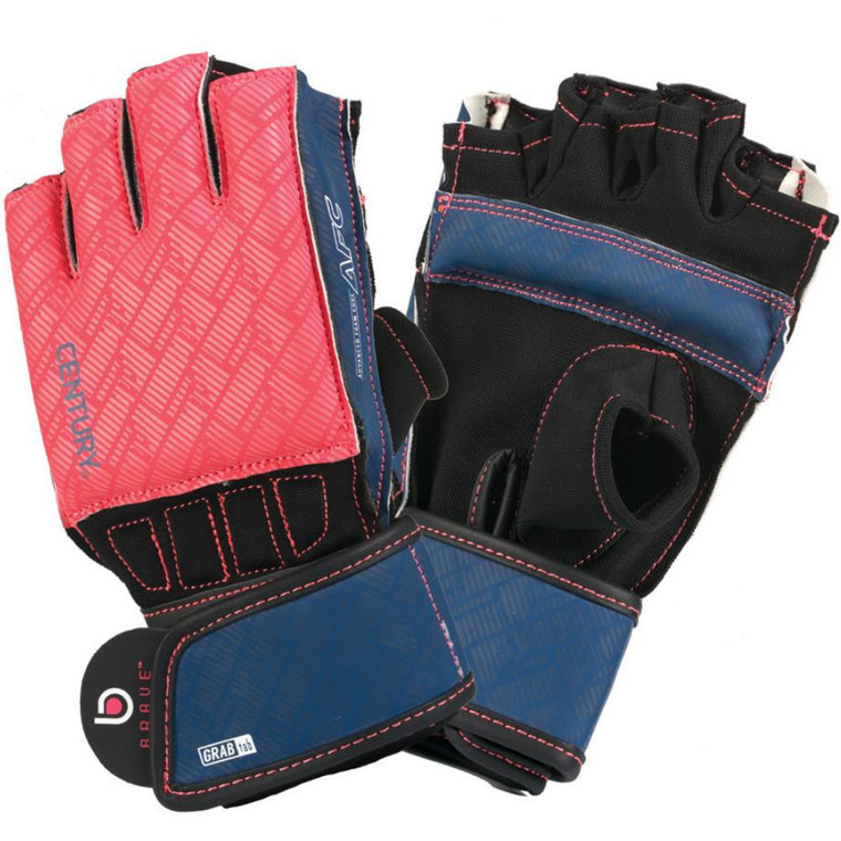 Century Brave Ladies Grip Bar Bag Gloves Coral Navy