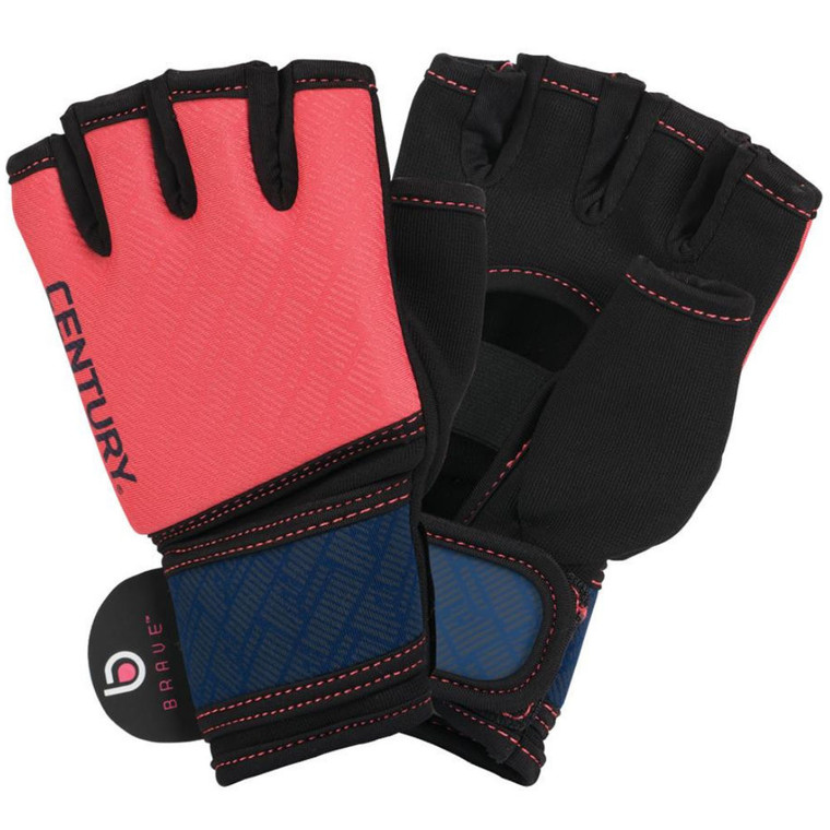 Century Brave Ladies Gel Gloves Coral Navy