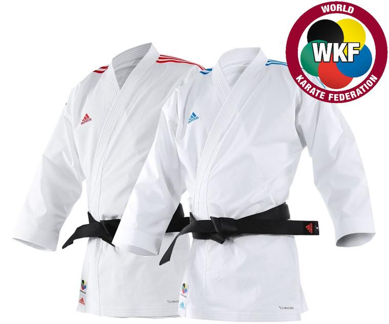 Adidas WKF Adi Light Kumite Karate Uniform 4.5oz Blue Red