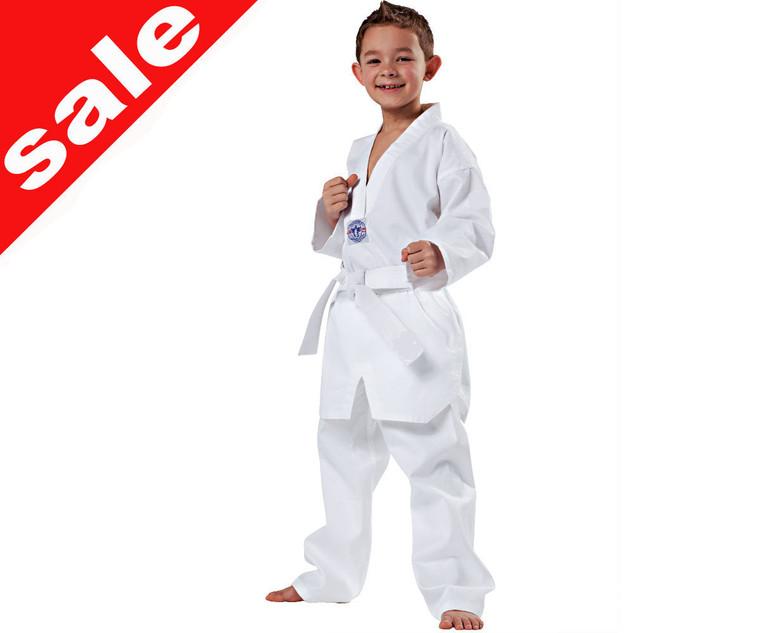 Plain White V Neck Taekwondo Uniform