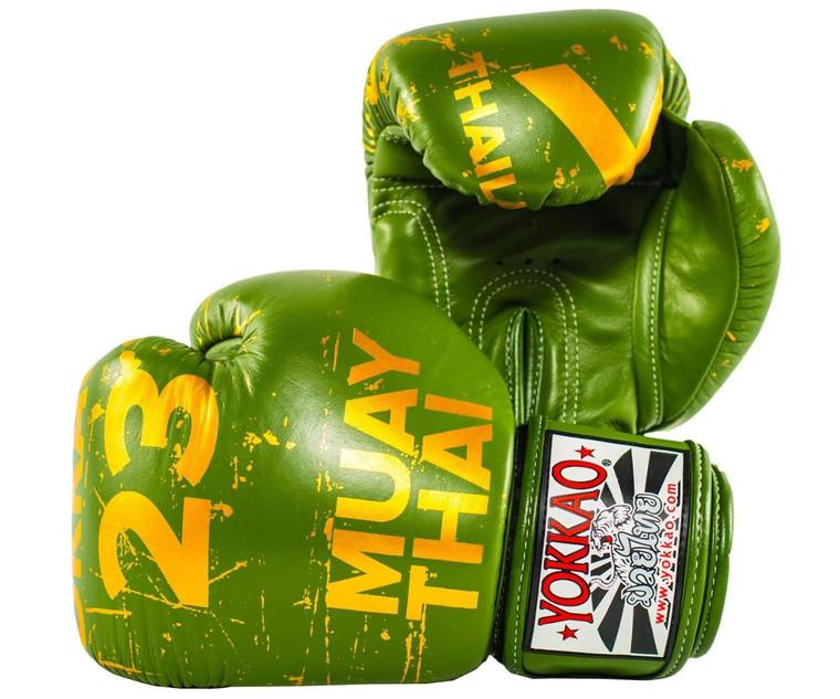 Yokkao Urban Muay Thai Boxing Gloves Green