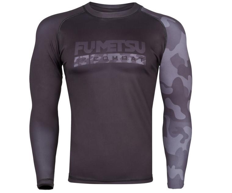 Fumetsu Stealth Camo Rash Guard Black