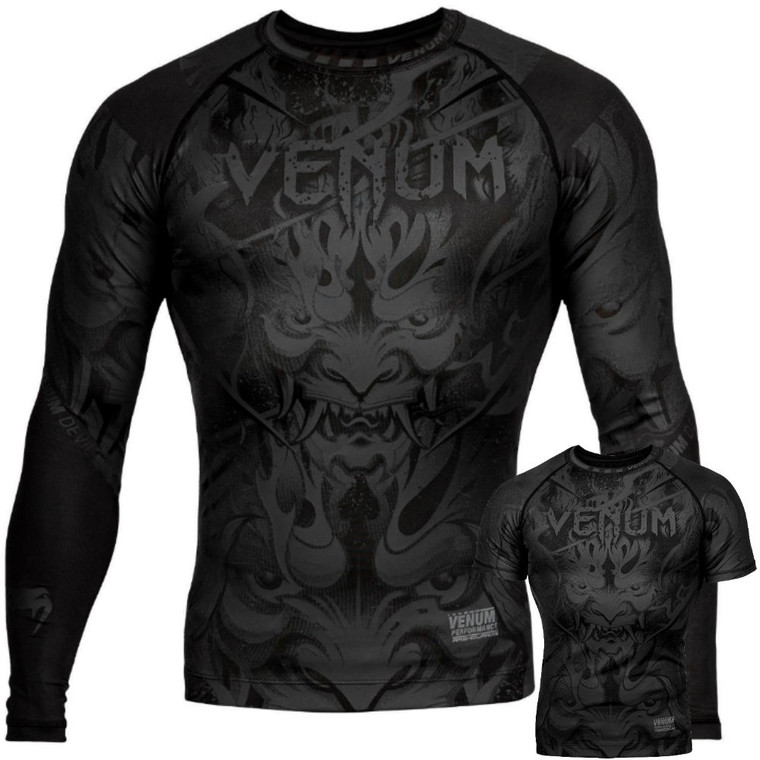 Venum Devil Rash Guard Black Black