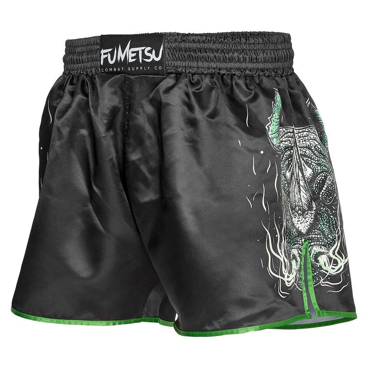 Fumetsu Rampage Muay Thai Shorts Black Green