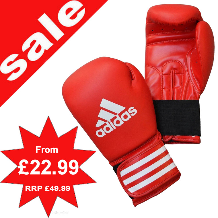 Adidas Red Leather Performer Boxing Gloves