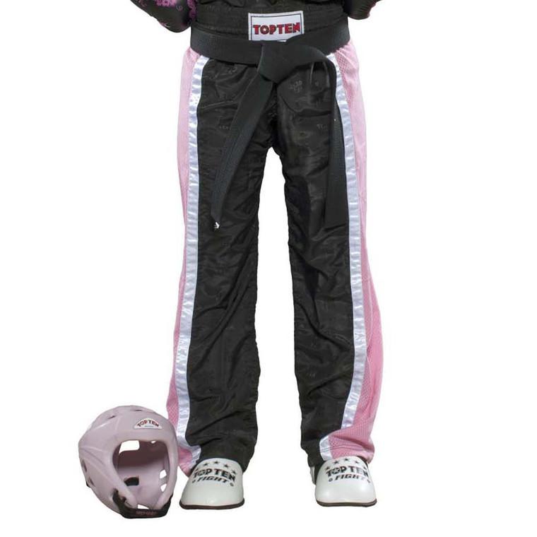 Top Ten Mesh Kickboxing Pants Black Pink